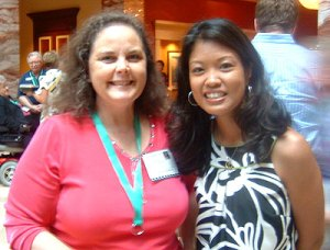 The jackalope with friend Michelle Malkin