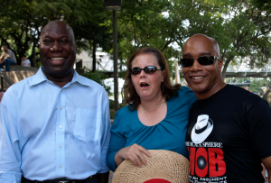 Michael Williams (left) and Kevin Jackson with me at the District 17 Tea Party/Tea Party Express Bus Stop Waco