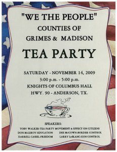 Grimes-Madison County Tea Party